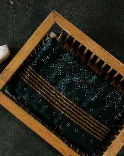 Tangaliya cotton-silk saree