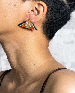 Prism stud earring by Ekibeki